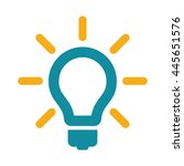 idea bulb icon flat color on... | Shutterstock .eps vector #445651576