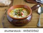traditional irish chowder... | Shutterstock . vector #445653562