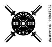 Oldschool Gym. Retro Logo....
