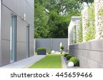 modern  garden of the house | Shutterstock . vector #445659466