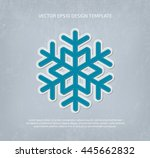 vector applique style snowflake ... | Shutterstock .eps vector #445662832