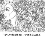 vector coloring beautiful...   Shutterstock .eps vector #445666366