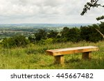 bench with view over the... | Shutterstock . vector #445667482