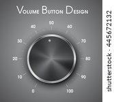 volume button  music knob  with ... | Shutterstock .eps vector #445672132