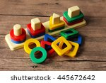 colored geometric forms | Shutterstock . vector #445672642