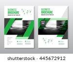 green brochure cover design... | Shutterstock .eps vector #445672912