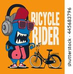 monster  bicycle vector design | Shutterstock .eps vector #445683796