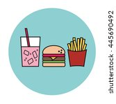 fast food icon | Shutterstock .eps vector #445690492