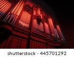 pipe organ. 3d rendering   Shutterstock . vector #445701292