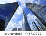 shanghai world financial center ... | Shutterstock . vector #445717732
