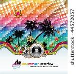 abstract tropical dance disco... | Shutterstock .eps vector #44572057