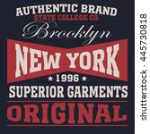 new york  typography fashion  t ... | Shutterstock . vector #445730818