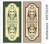 vector vintage border frame...   Shutterstock .eps vector #445731145