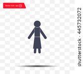 woman icon   vector... | Shutterstock .eps vector #445732072