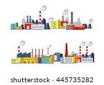 industrial buildings vector... | Shutterstock .eps vector #445735282