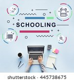 literacy training schooling... | Shutterstock . vector #445738675