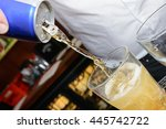 energy drink being poured into... | Shutterstock . vector #445742722