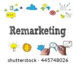 remarketing businessman work on ... | Shutterstock . vector #445748026