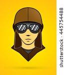pilot face graphic vector   Shutterstock .eps vector #445754488