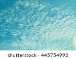 blue sky and white clouds... | Shutterstock . vector #445754992