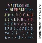 handwritten bold grunge font... | Shutterstock .eps vector #445761172