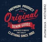 original vintage denim print... | Shutterstock .eps vector #445763842