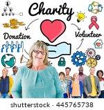 charity donate welfare...   Shutterstock . vector #445765738