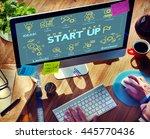 business strategy planning... | Shutterstock . vector #445770436