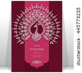 wedding invitation or card with ... | Shutterstock .eps vector #445773235