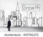 growth process strategy success ... | Shutterstock . vector #445781272