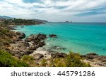 translucent turquoise sea ... | Shutterstock . vector #445791286