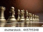luxury chessmen on marble...   Shutterstock . vector #445795348