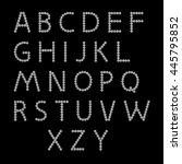 letters. alphabet vector.on a... | Shutterstock .eps vector #445795852
