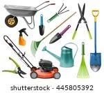 essential realistic gardening... | Shutterstock . vector #445805392