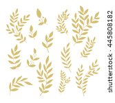 set of hand drawn decorative... | Shutterstock .eps vector #445808182