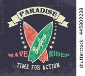 grunge t shirt graphic design ... | Shutterstock .eps vector #445809238