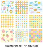 Stock vector vector seamless fun baby patterns for your design 44582488