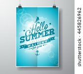 hello summer  i've been waiting ... | Shutterstock . vector #445826962