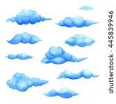 watercolor cumulonimbus cloud... | Shutterstock . vector #445839946