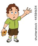 cartoon vector illustration boy ... | Shutterstock .eps vector #44584654