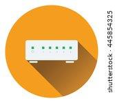 ethernet switch icon. flat...