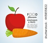 food infographic concept with... | Shutterstock .eps vector #445855822