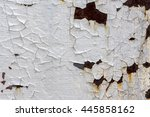 corroded white metal background.... | Shutterstock . vector #445858162