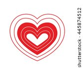 love  concept represented by... | Shutterstock .eps vector #445874512