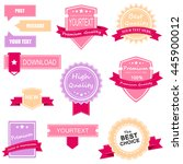 ribbon collection | Shutterstock .eps vector #445900012