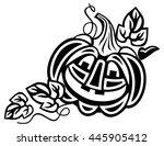 halloween decoration jack o... | Shutterstock .eps vector #445905412
