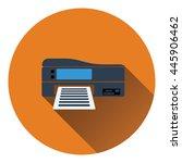 printer icon. flat color design....