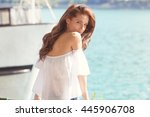Young Attractive Woman Near Th...