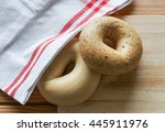variety of pastries and breads... | Shutterstock . vector #445911976