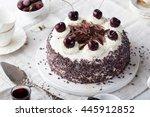 black forest cake  schwarzwald...   Shutterstock . vector #445912852